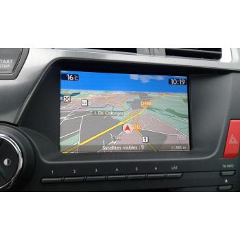 Citroen GPS navigation screen